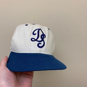 Vintage 80's New Era Dodgers Fitted Hat